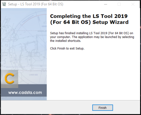 LS Tool installation showing Setup Wizard Finish